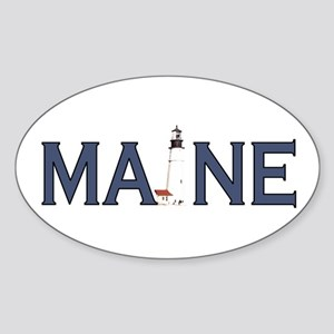 Maine Lighthouse Sticker (Oval)